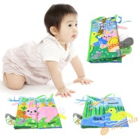 Baby Toys Cute Animal Tail Infant Kids Cloth Books Early Education Lea