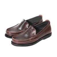 Sepatu Pria Casual Slip On Semi Formal Authentic Pull Up Leather C02 - Cokelat, 39