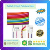 Tali Spiral Untuk Pelindung Kabel USB Charger Earphone Smartphone 1PCS