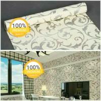 Grosir Termurah Wallpaper Sticker Dinding Batik ulir crem elegan 10 M