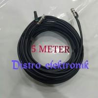 Kabel Jadi 5 Meter Coaxial Rg 6 + Power Lengkap Sama Konektor