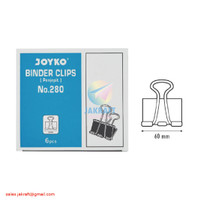 Binder Clip Joyko 280 Penjepit Klip Kertas Dokumen Data File Jumbo
