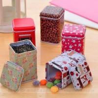 Kotak Kaleng/Tin Box Kotak Panjang Motif Vintage - Souvenir