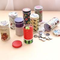 Kotak Kaleng/Tin Box Mini Bentuk Bulat Panjang - Souvenir