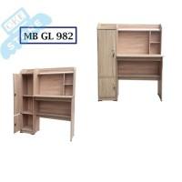 Meja belajar anak polos kayu minimalis lucu MB GRACE sonoma oak