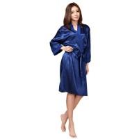 Kimono Tidur Panjang Satin Outer Kimono Sleep Sexy Sleepwear