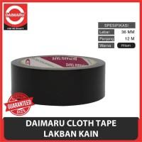 Lakban Hitam 1 1/2 inchi / Cloth Tape 36 Mm daimaru / Lakban kain