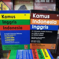 Paket 2 kamus bahasa inggris indonesia indonesia inggris john m echols
