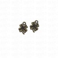 Liontin Charm Beads Logam Clover / Daun Semanggi
