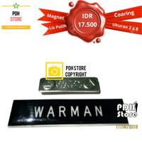 Papan nama grafir PDH Coating 2 x 8 cm Magnet - IDR : 17.5K/pcs