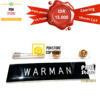 Papan nama grafir PDH Coating 2 x 8 cm Paku Peniti - IDR 15K/pcs