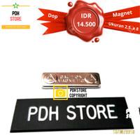 Papan nama / Nama Dada Doff 2.5 x 8 cm Magnet - IDR : 14.5K/pcs