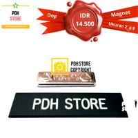 Papan nama grafir PDH Dop 2 x 8 cm Magnet - IDR : 14.5K/pcs
