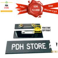 Name Tag / Papan Nama Dada Doff 2x8cm Paku Peniti - IDR : 12K/pcs - PENITI