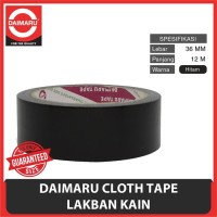 Cloth Tape Daimaru 36 Mm / Lakban Hitam 1 1/2 Inchi