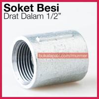 Soket 1/2 Inch Sambungan Pipa Besi Galvanis Socket Drat Dalam laborato
