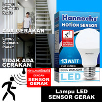 HANNOCHS 13W BOLAM MOTION SENSOR/ BOHLAM LAMPU SENSOR GERAK