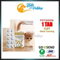 Obat Cacing Kucing PETDERM CAT 1 Tablet