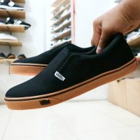 [sepatu vans] sepatu vans slip on pria hitam navy abu abu marun