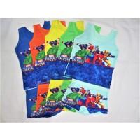 T5571 Kaos Dalam Singlet Anak & Celana Dalam Anak Boxer Marvel Heroes