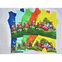 T5562 Kaos Dalam Singlet Anak & Celana Dalam Anak Boxer Cars