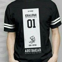 Kaos Abu Bakar Ash-Shiddiq 01 / Kaos Hijrah Lengan Pendek / Kaos Pria