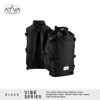 Tas Ransel Laptop Gulung Rolltop Backpack Rucksack - Atva Vibe Black