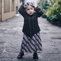 Setelan Baju Surjan Anak Lengkap (Surjan+Rok Jarik+Blangkon)