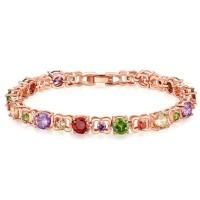 Gelang Wanita Warna Warni Fashion Style Bertabur Batu Zircon Bracelet0