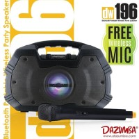 Speaker Bluetooth Karaoke Portable 2 MIC Dazumba DW196 WIRELESS MIC