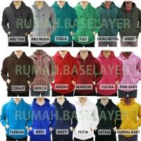 (PROMO) Jaket Polos Sweater Hoodie Zipper Polos Banyak Warna