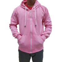 (PROMO) Jaket Polos Sweater Hoodie Zipper Polos Pink Baby Unisex