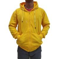(PROMO) Jaket Polos Sweater Hoodie Zipper Polos Kuning Baby Unisex