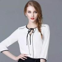 Korean Style Blouse Kombinasi Tali
