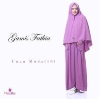 Baju Gamis Fathiya By Hijab Alsa - Cokelat
