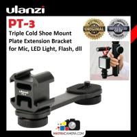 Ulanzi PT-3 Triple Hot Cold Shoe Mount Adapter Bracket for Mic LED