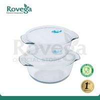 Rovega Heat Resistant Glass Pot Vacuum Sealing Kontainer Makanan Kaca