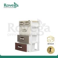 Rovega Kharisma Lemari Baju Plastik Premium 4 Susun Brown Gradient