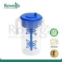 Rovega Premium Water Jug Teko Air Food Grade dengan Pengaduk BIRU
