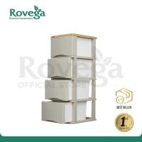 Rovega Kabinet / Lemari Plastik 4 Susun Saga CSA 420 WII