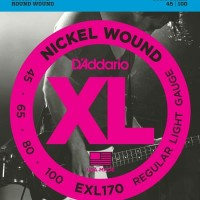 D'Addario Senar Bass 4 Senar String Nickel Wound 45-100 EXL170 New Cov