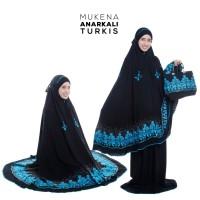 Mukena Anarkali Hitam Turkis Telekung Rukuh Eksklusif Dewasa