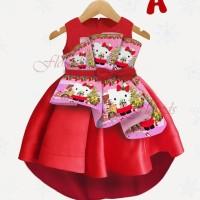 Dress Anak Hello Kitty / Gaun Anak Import