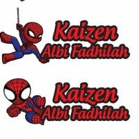 STIKER LABEL NAMA TAHAN AIR/ STICKER LABEL WATERPROOF KISSCUT KIDS
