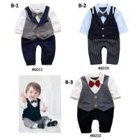 Romper Segiempat Tuxedo Setelan Panjang Baju Pesta Bayi B-2