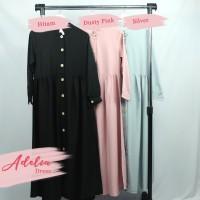 Adelia Dress dan Khimar / Set Gamis + Khimar