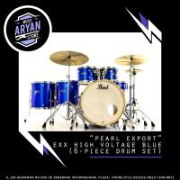 PEARL EXPORT EXPORT VOLTAGE BLUE (6 PIECE DRUM SET )