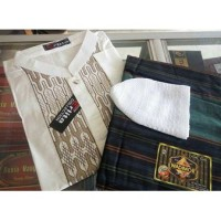 paket baju koko bordir sarung wadimor ukhwah mangga peci rajut yaman
