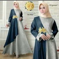 Busana Muslim Wanita Maxi Dress Baju Pesta Natasha Gamis Syari Terbaru