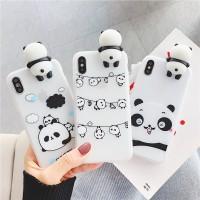 Case iphone 5s 6 6s 7 8 Plus Fashion cute panda Soft phone casing Cove